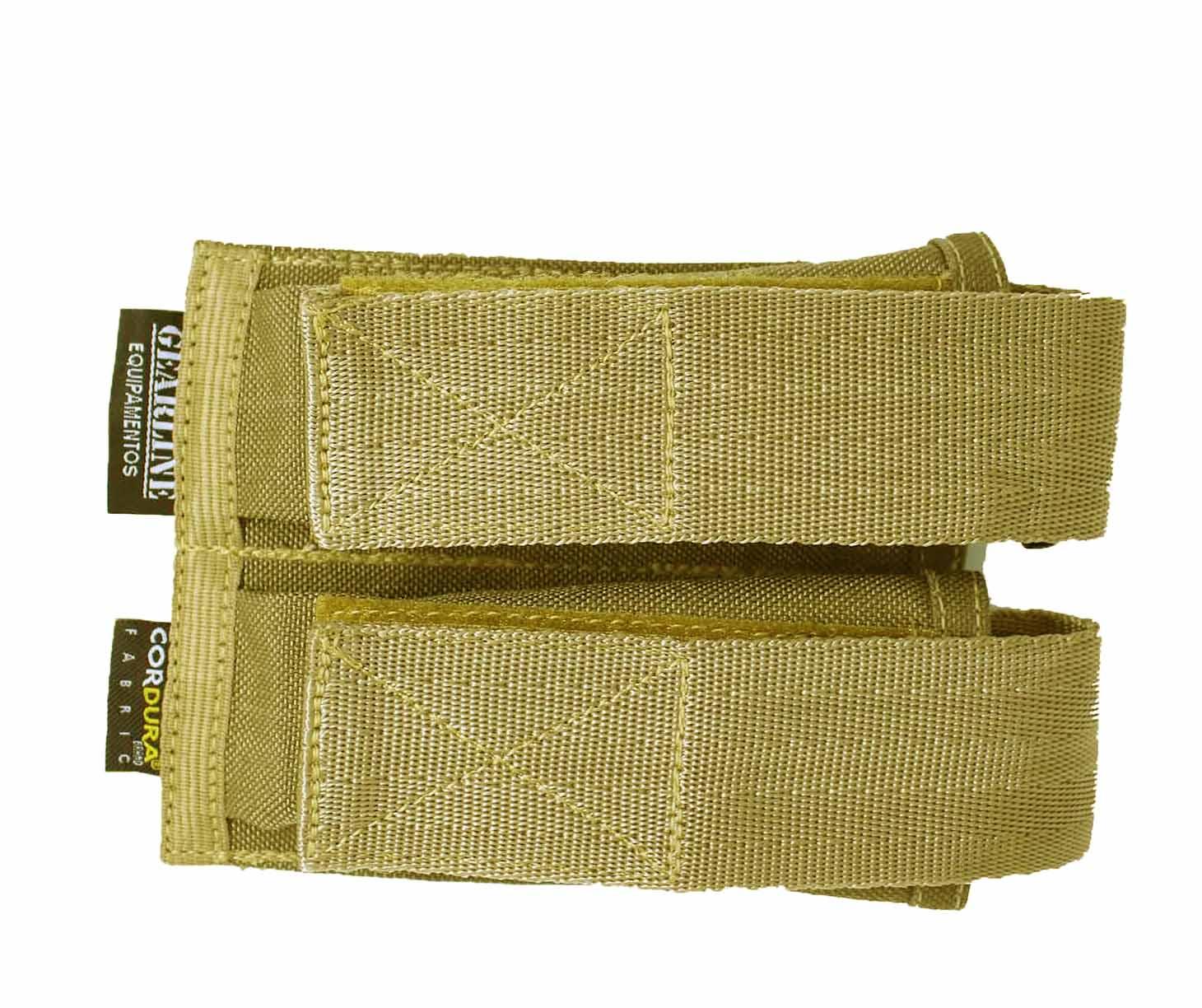 Porta Carregador de Pistola Duplo Modular Tan