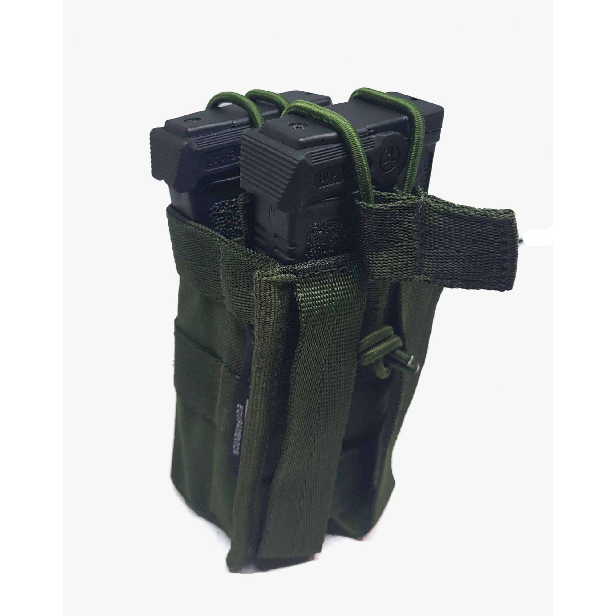 Porta Carregador Modular Duplo - Verde