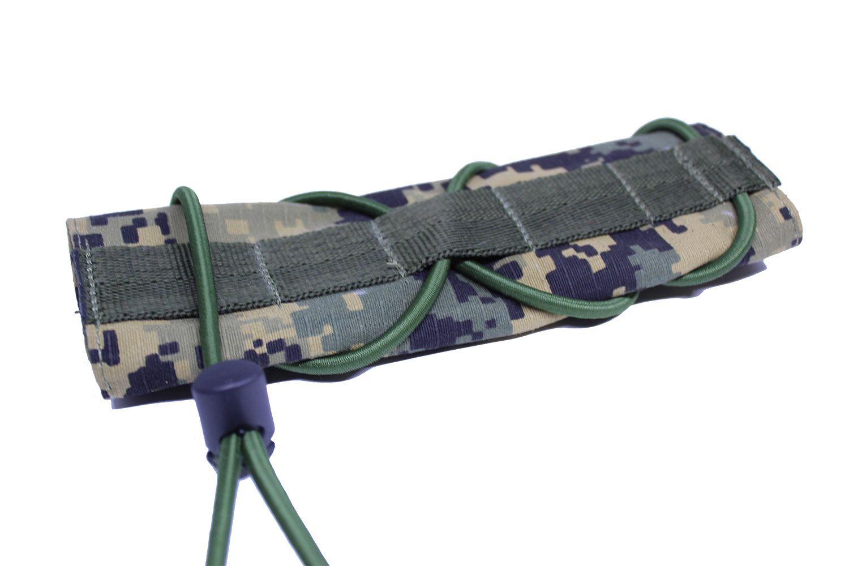 Protetor de cano silenciador de Airsoft Camuflado Digital
