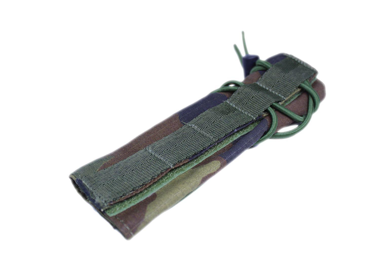 Protetor de cano silenciador de Airsoft Woodland