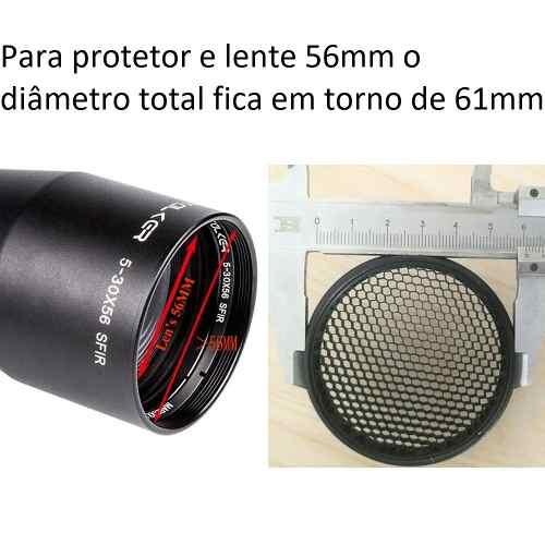 Protetor De Luneta Colmeia 56mm