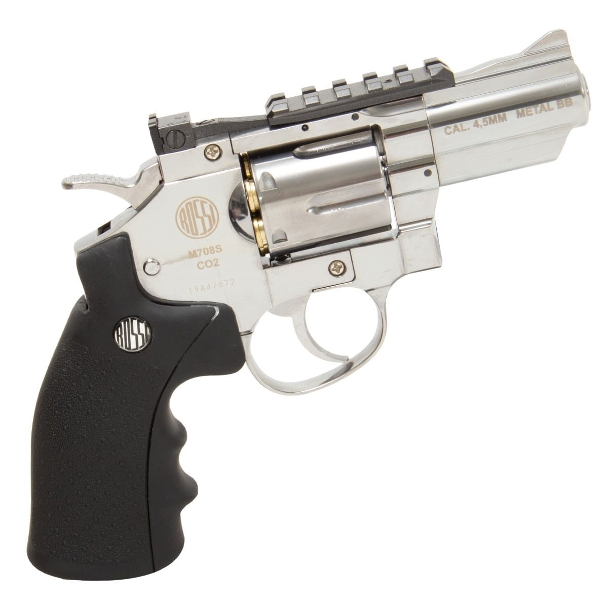 Revólver de Pressão Wingun Niquelado 708s 2p 4,5mm