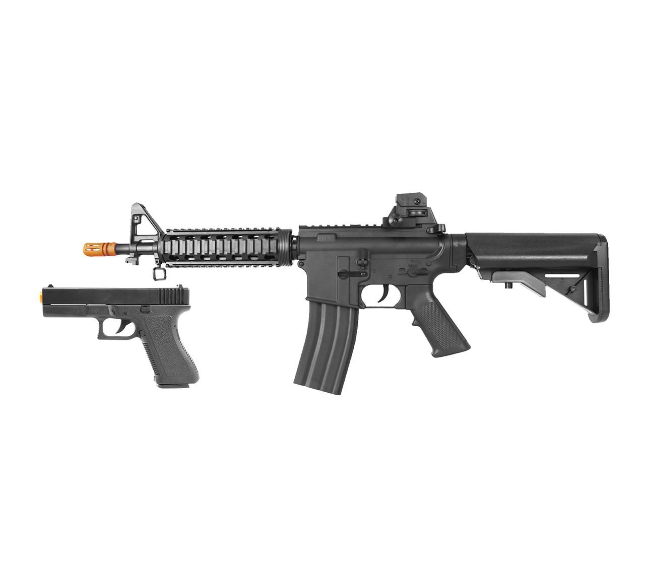 Rifle Airsoft Spring VG M4A1 Mola + Pistola de Brinde