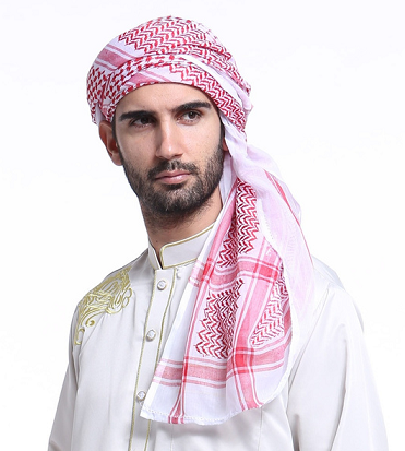 Shemagh Lenço Keffiyeh Hijab Masculino Oriente Médio Quadrado