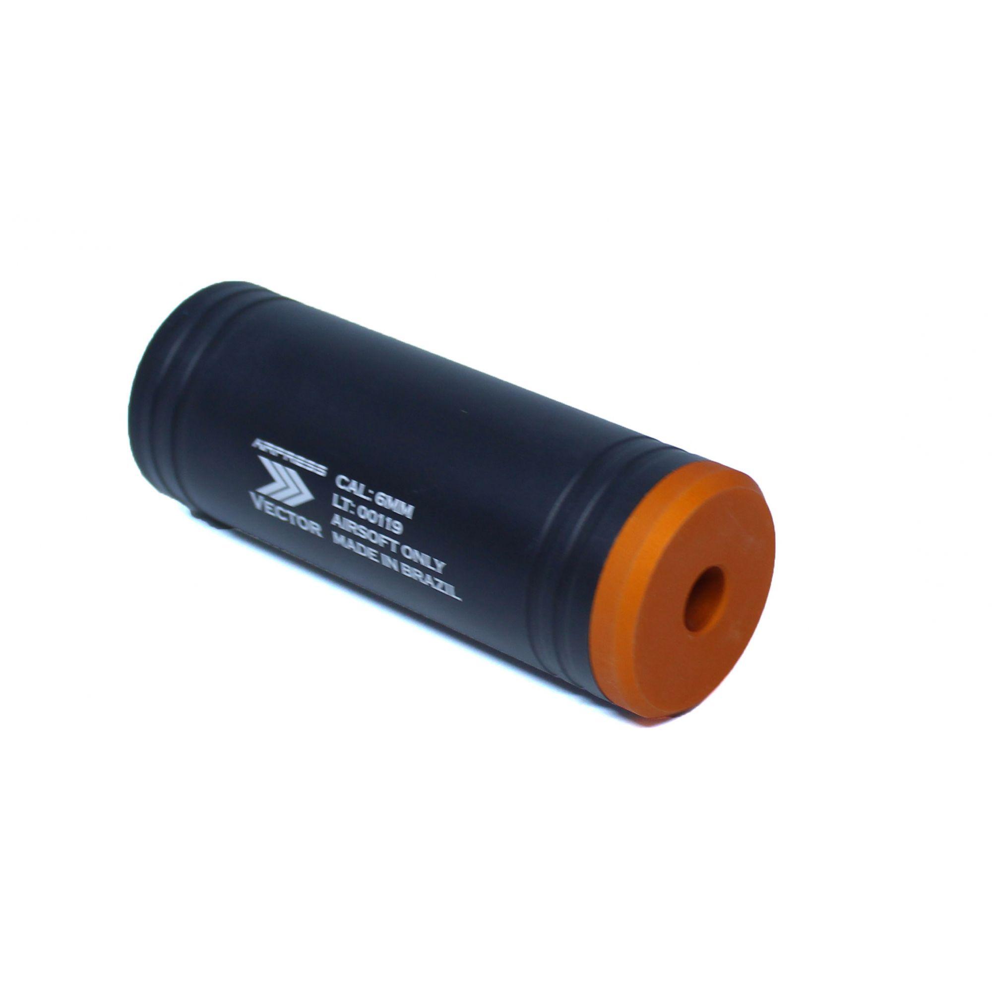 Silenciador Liso 100mm x 35mm - Esquerdo