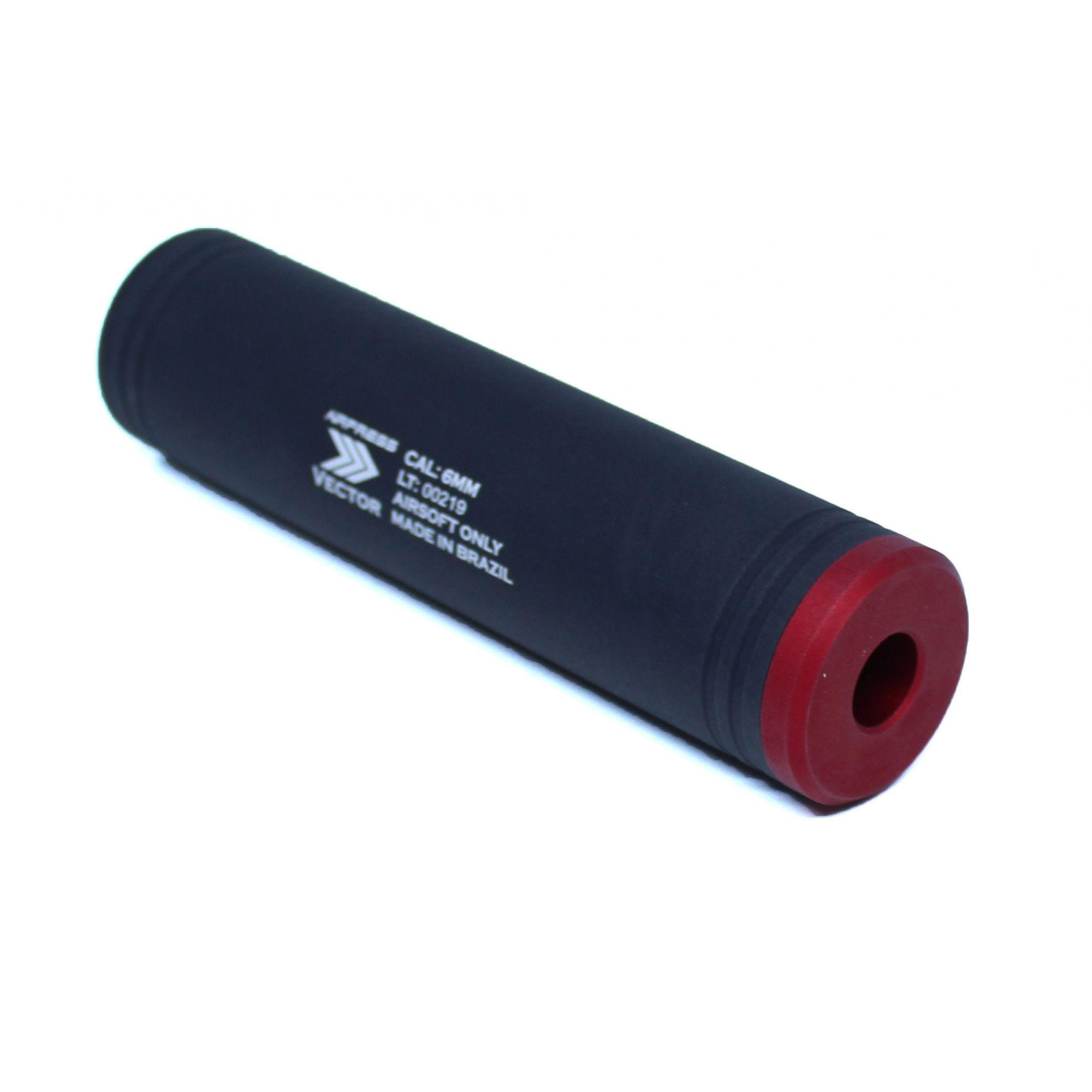 Silenciador Liso 140mm x 35mm - Esquerdo