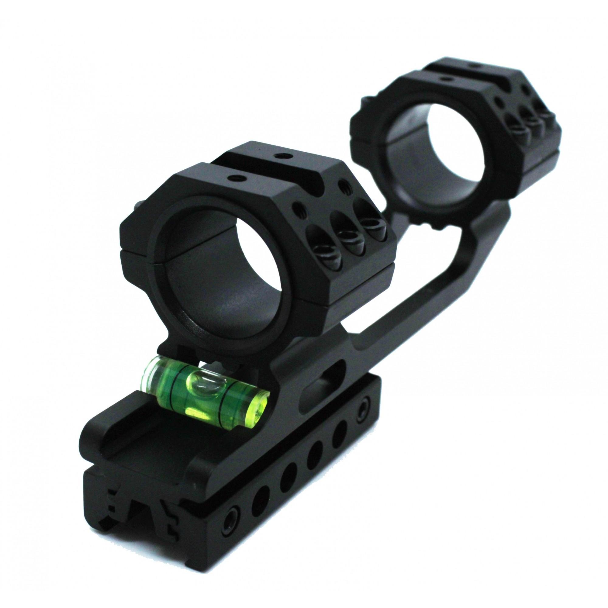 Suporte para Luneta 25/30mm Trilho 11/20mm Com Nível