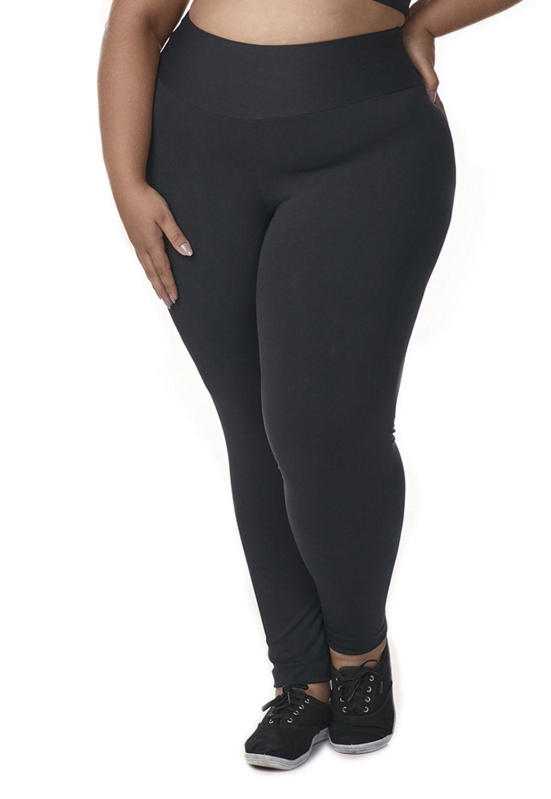 Calça legging com cós sem Costura Plus Size - Dukley Lingerie - 0009