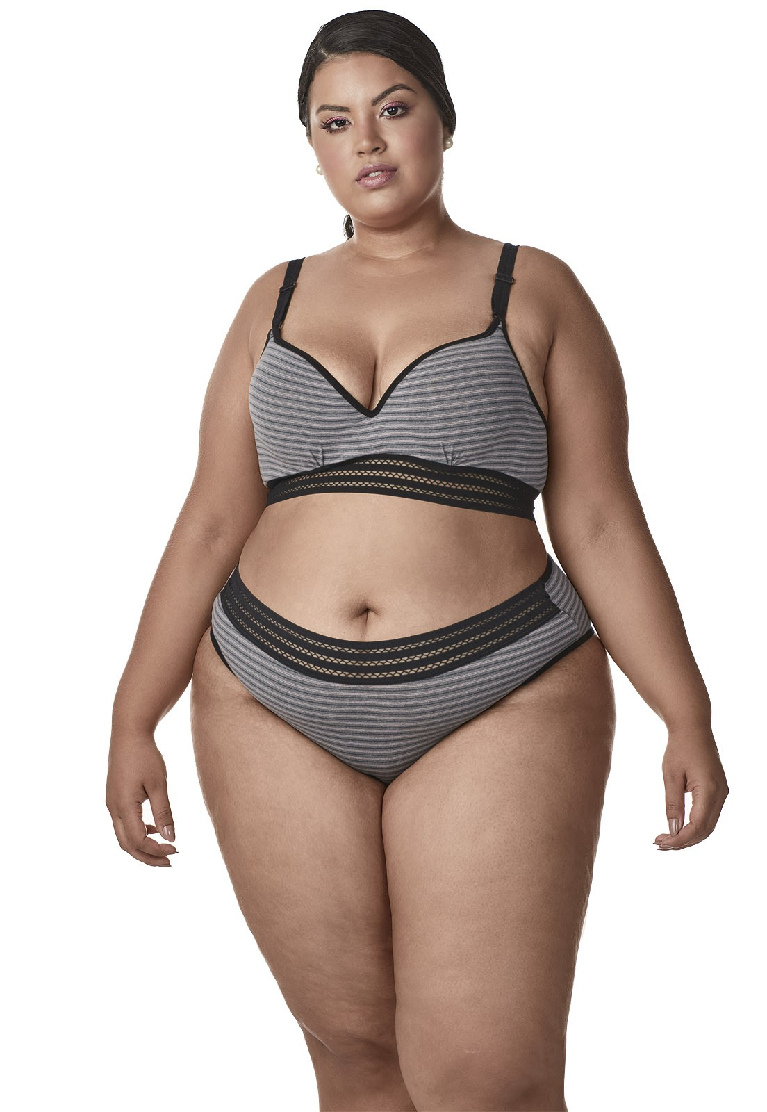 Calcinha basic cos largo Dukley Lingerie Plus Size - 156