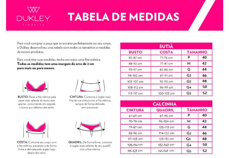 Calcinha Cós Alto - Dukley Lingerie Plus Size