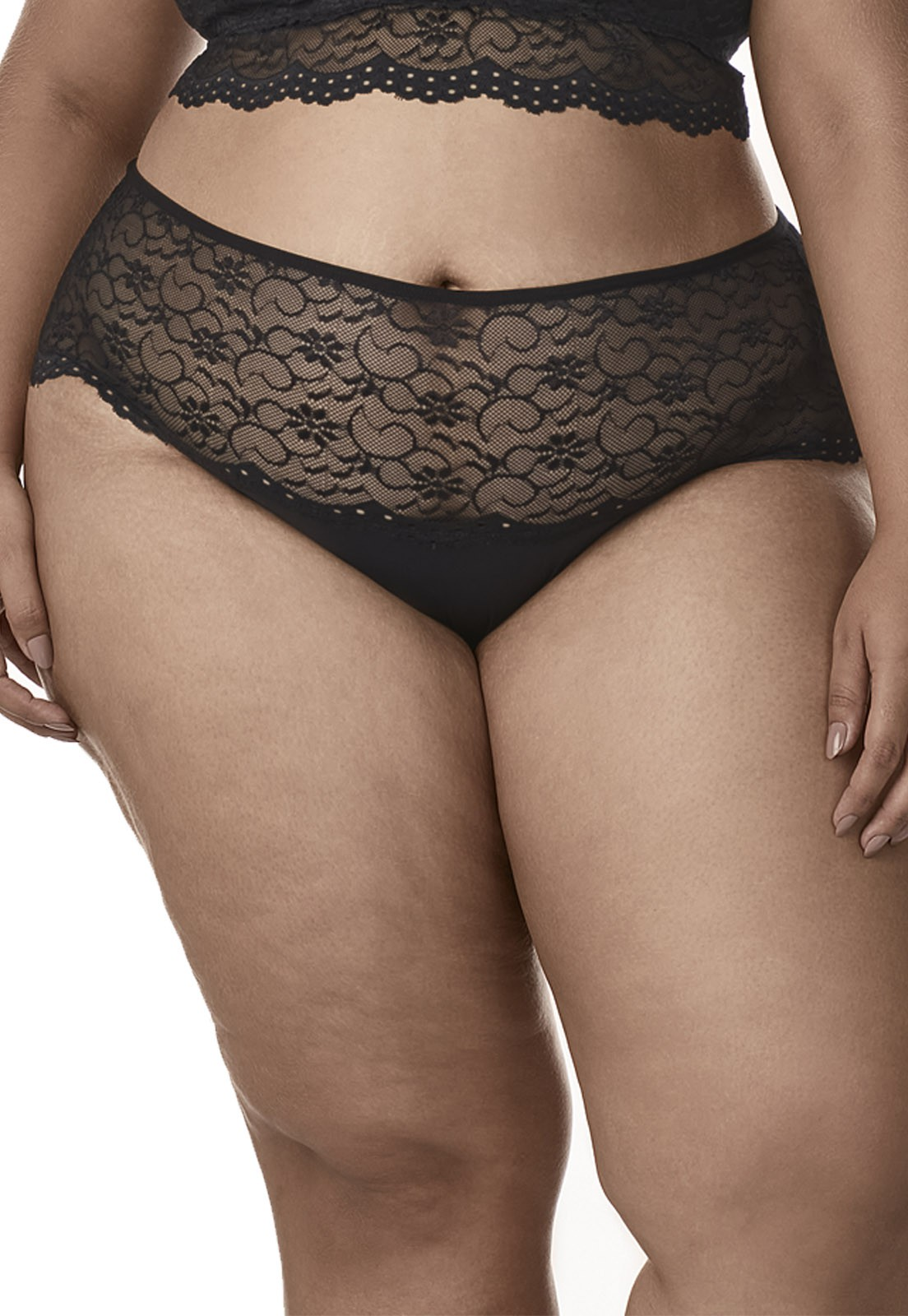 Calcinha cós de Renda - Dukley Lingerie - Plus Size - 170