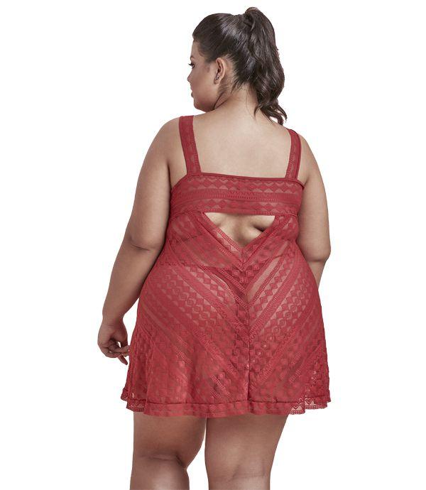 Camisola de renda | Dukley Lingerie - Plus Size