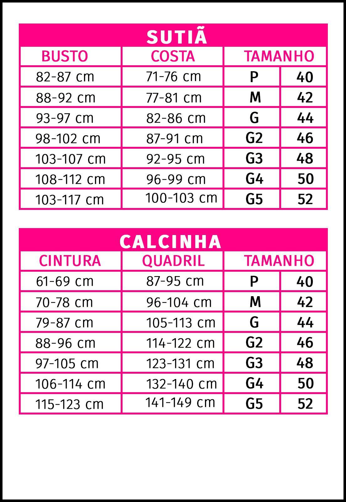 CONJUNTO TOP ELASTIC - SLIM - SUTIÃ + CALCINHA - 179C