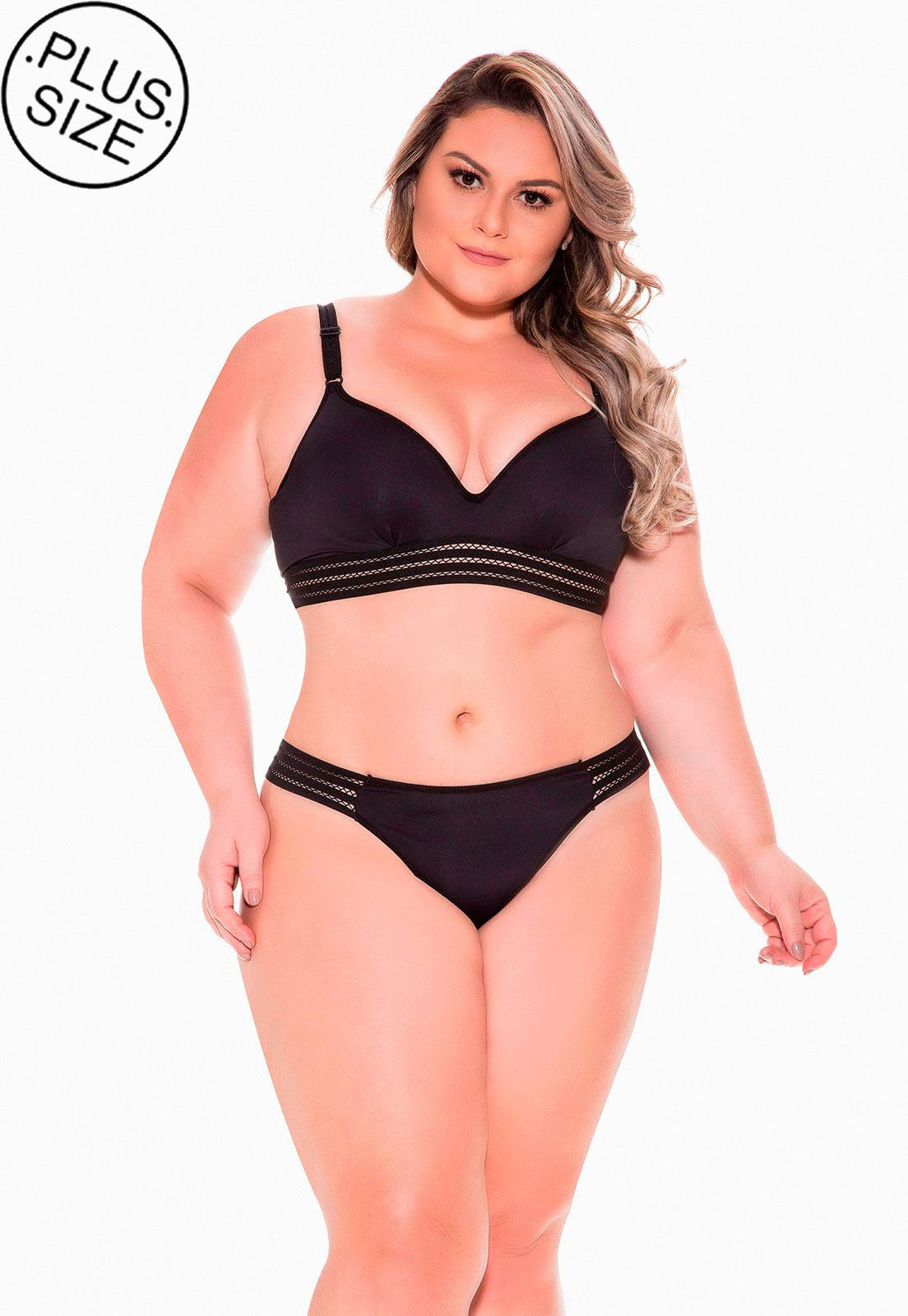 Fio basic cos largo Dukley Lingerie Plus Size - 156