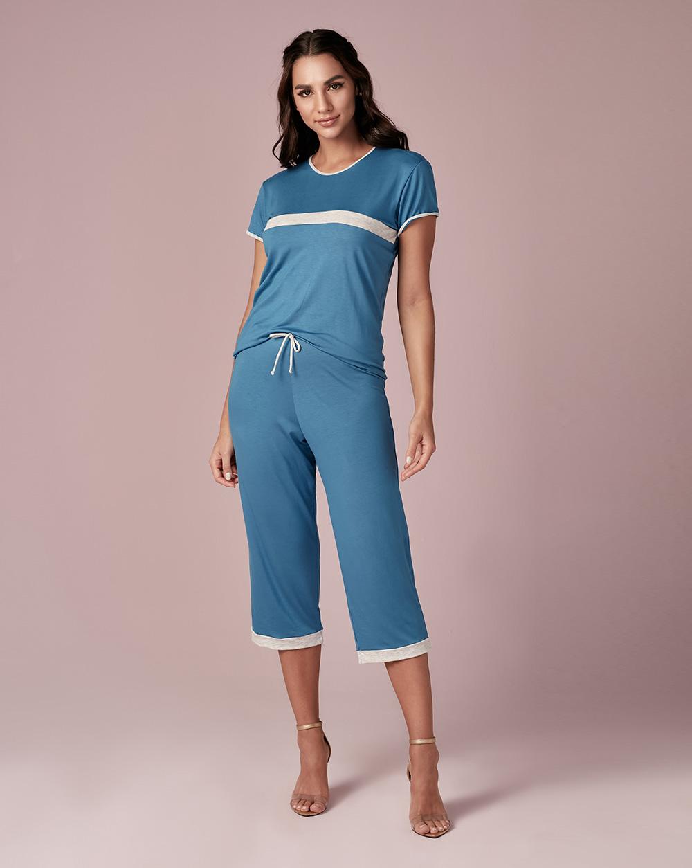 Pijama Meia Estação Viscose - Dukley Lingerie - Slim - 528