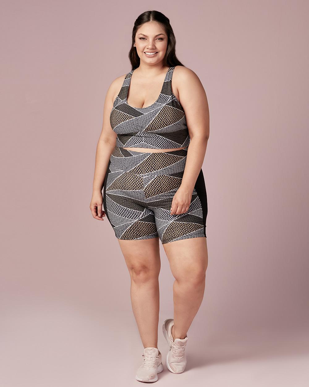 Shorts Meia Coxa Estampado - Dukley Lingerie - Plus - 604
