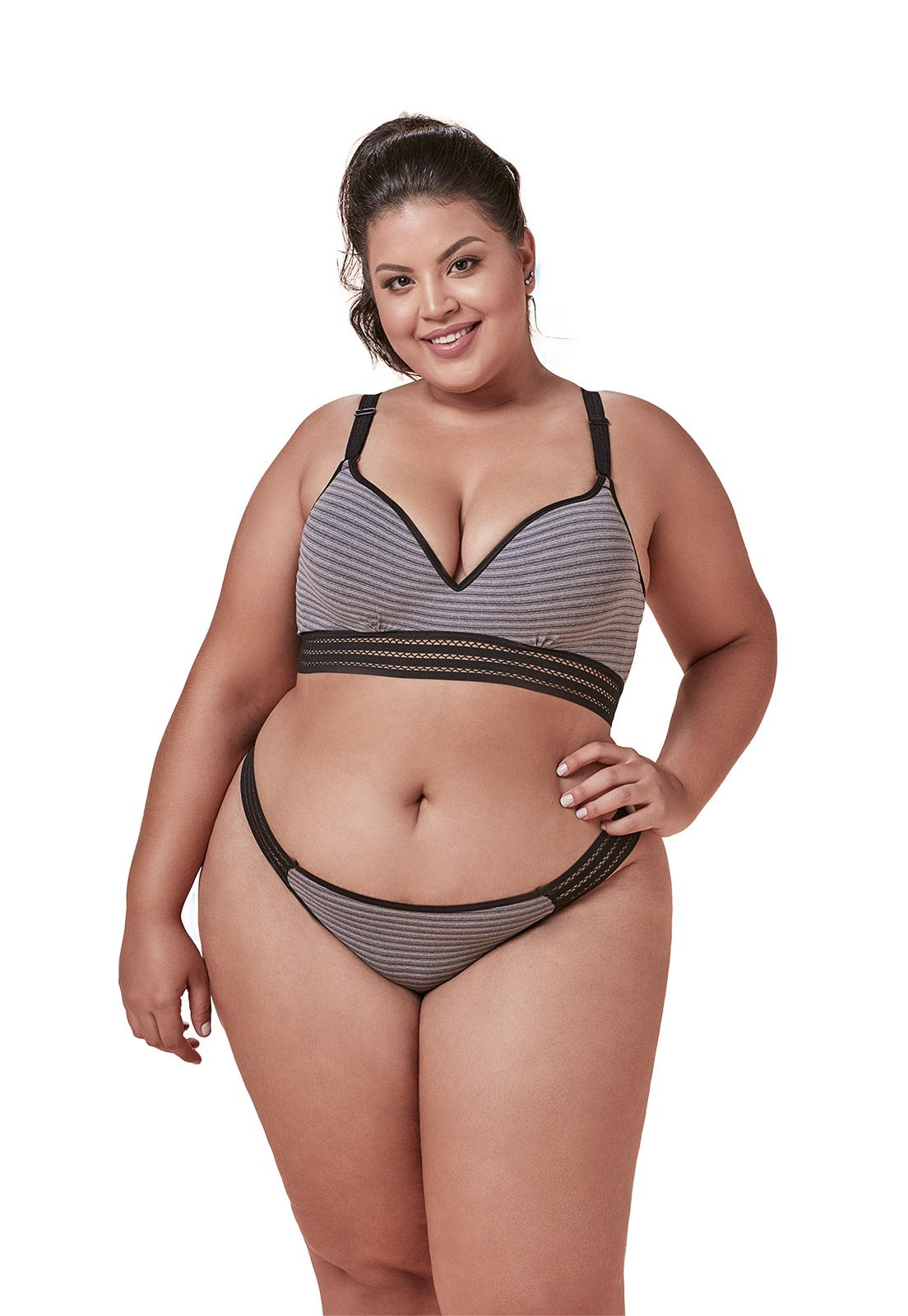 Sutiã basic cos largo Dukley Lingerie Plus Size