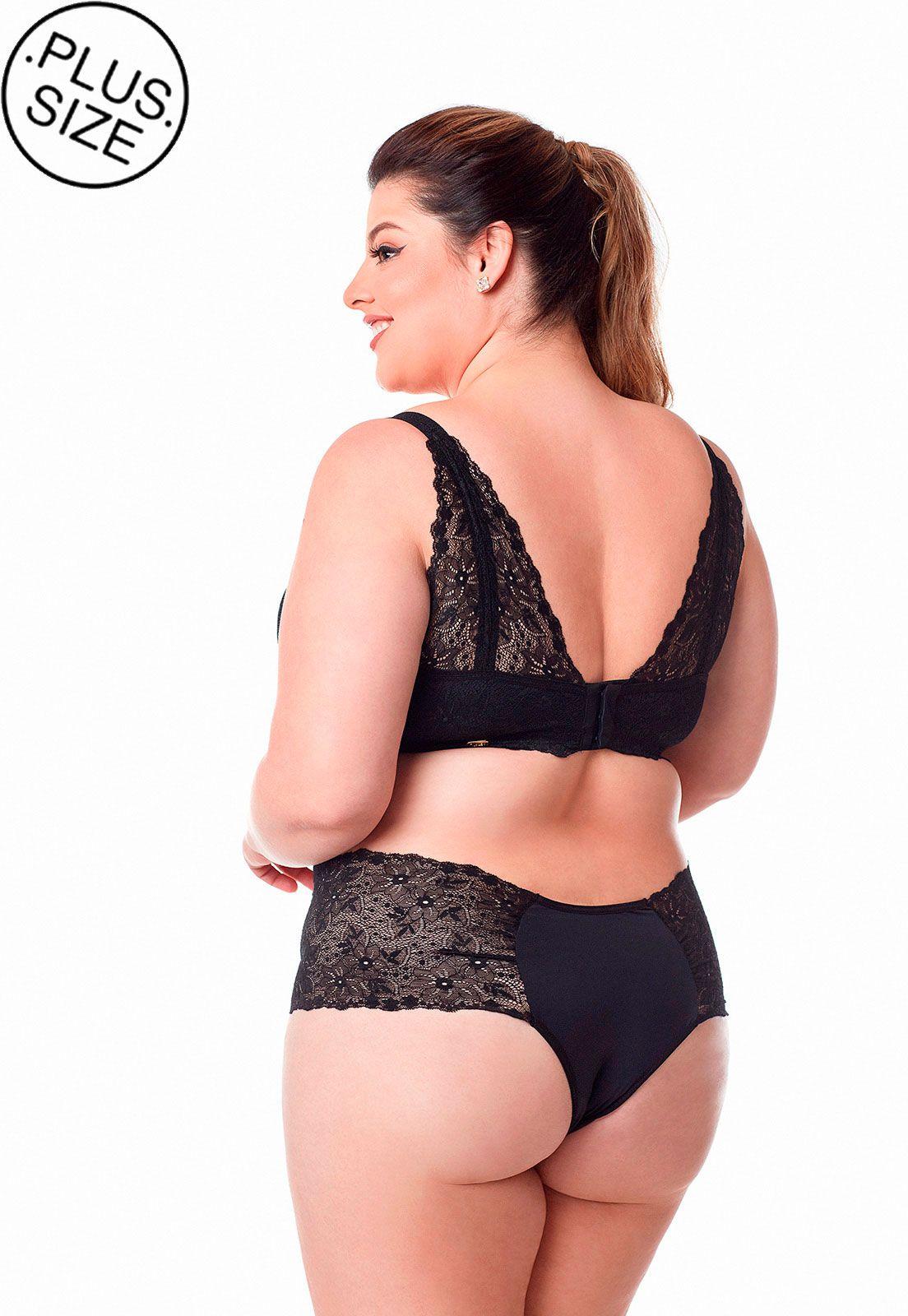 Sutia costas rendadas Dukley Lingerie Plus Size - 155