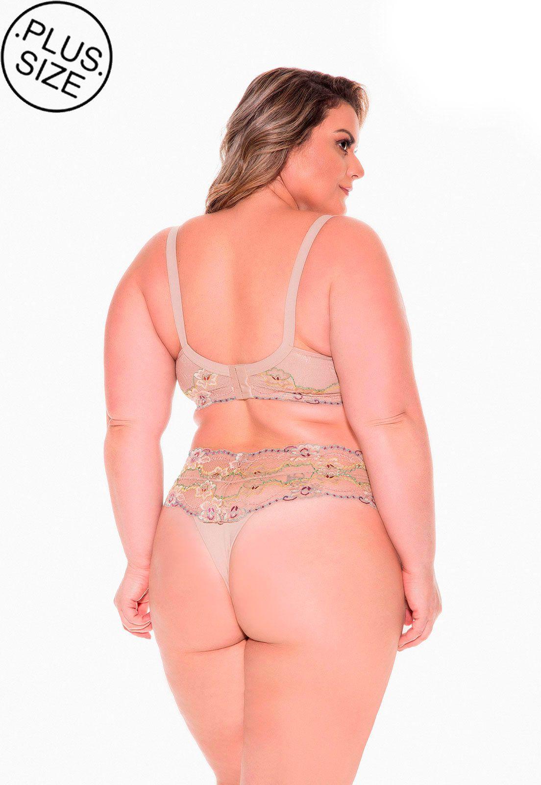 Sutiã de renda drapeado Dukley Lingerie Plus Size - Sempre Rosa