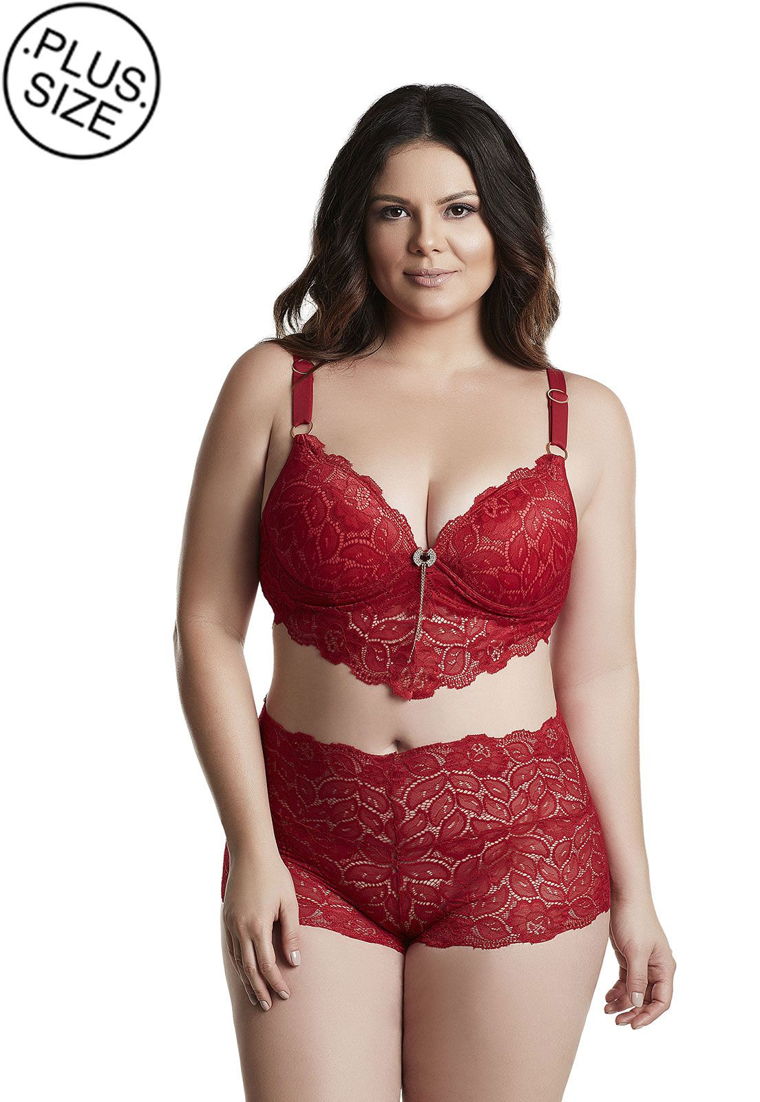 Sutiã long renda Dukley Lingerie Plus Size
