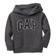 Casaco GAP C/ Ziper e Capuz Grafite 02 Anos