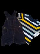 Conj. 02 Peças Macacão Jeans + Camisa Masc. 06 Meses
