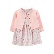 Conjunto de Vestido Floral rosa Carter's de 2 Peças 3 meses feminino