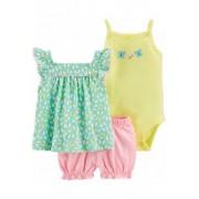 Conjuntos Carters  Bebê Menina 6 Meses / floral verde rosa amarelo
