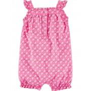 Romper Bebê Menina borboleta rosa - NB Carters