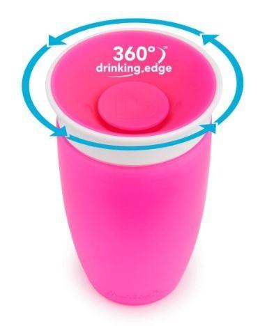 Copo Treinamento Miracle 360° sem alça Rosa