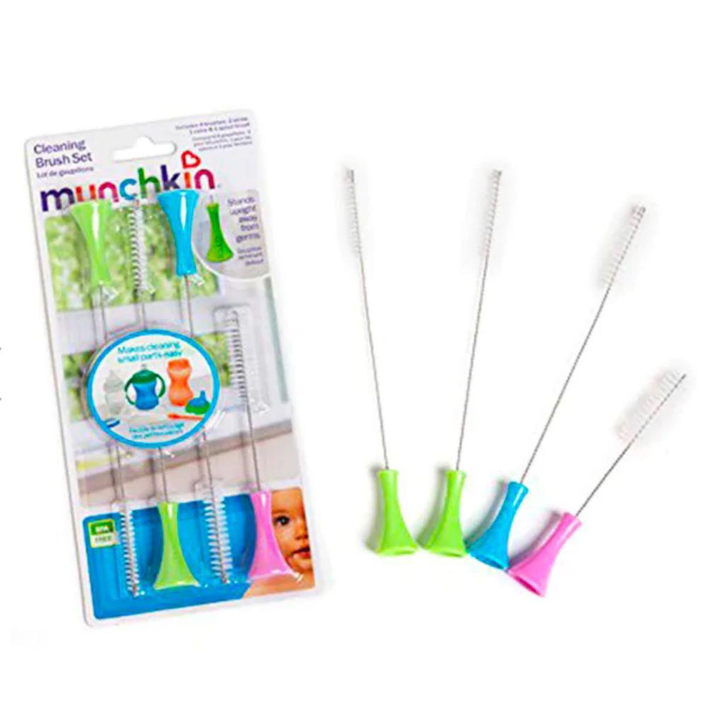 Kit 04 Escovas Limpeza De Canudos e Mamadeiras