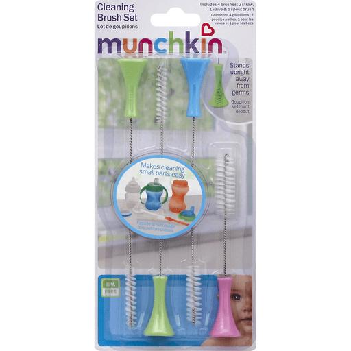 Kit 4 Escovas Para Limpeza De Canudos E Mamadeiras Munchkin