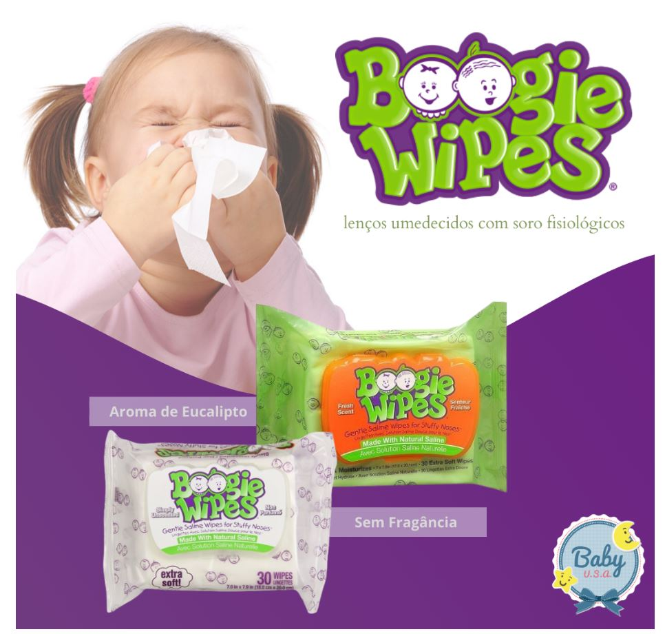 Lenços Umedecidos sem Fragância - Branco- Boogie Wipes