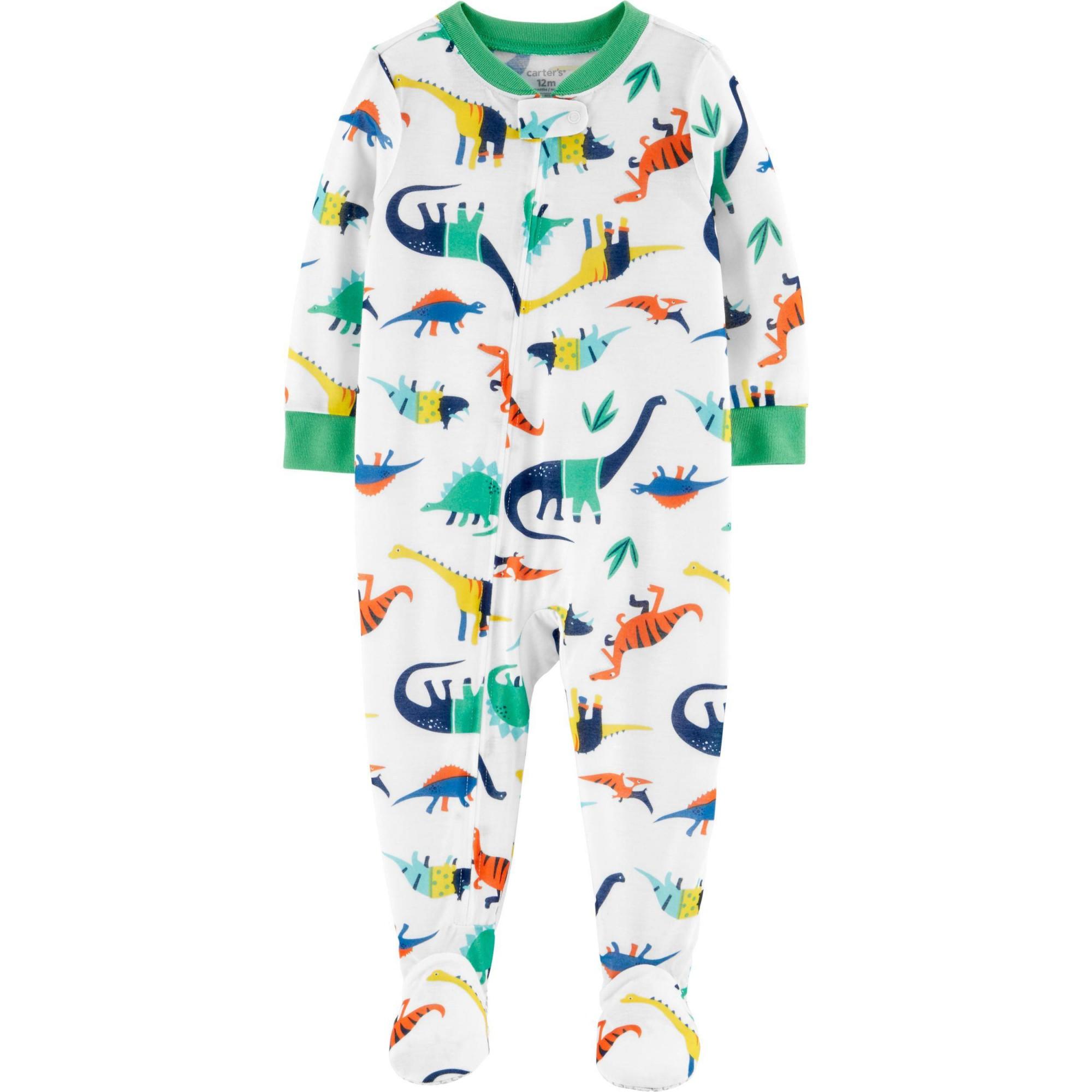Macacão Pijama Carter's Dinossauro 12 meses Verde e branco