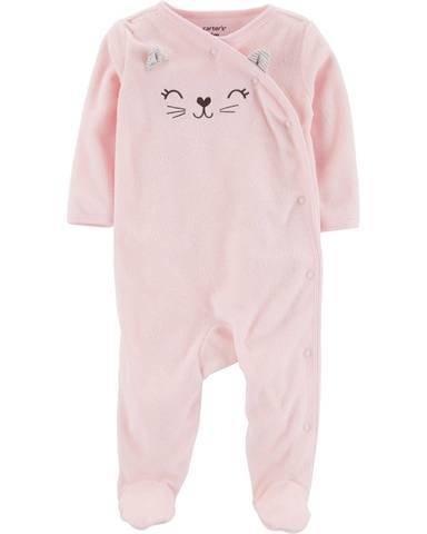Macacão Pijama Carter's Gatinha 9 meses rosa