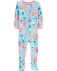 Pijama Carters com Pezinho - Floral - 2T