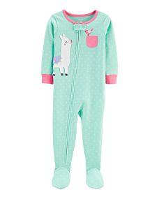 Pijama Carters com Pezinho - Lhama - 18 meses