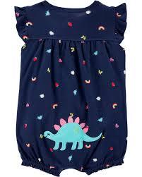 Vestido Carters Dinossauro 12 meses azul marinho