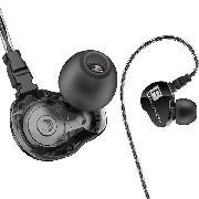 Fone de Ouvido Profissional Dual Drive Original QKZ CK9 In-Ear HiFi HQ Alta Qualidade Resistente a Água Certificação IPX4