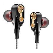 Fone de Ouvido Profissional Dual Drive Original QKZ CK8 In-Ear HiFi HQ Alta Qualidade