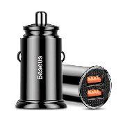 Carregador Veicular Turbo Original Baseus BS-C16Q1 Dual USB 30W Quick Charge 3.0 5A PD/SCP/PE+/AFC