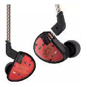 Fone de Ouvido Profissional Dual Driver (1BA + 1DD) KZ ES4 Original In-Ear Hi-Fi Alta Qualidade