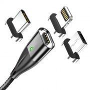 Cabo Magnético Floveme Turbo Quick Charge 3.0 Reforçado Alta Qualidade Micro USB Tipo-C Ou Lightning para iPhone