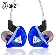 KIT 8 Fones QKZ CK5 Hi-Fi Com Case Original QKZ - 3 Azuis e 5 Vermelhos