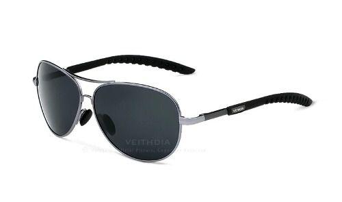 Óculos de Sol Original Veithdia 3088 Aviador UV 400 Polarizado + Caixa original + Case