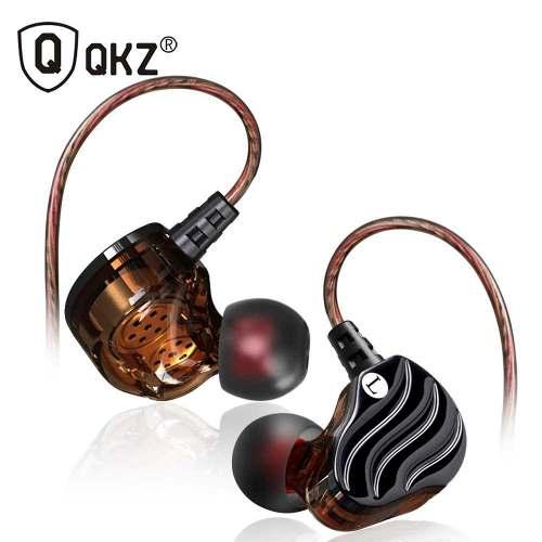 Fone de Ouvido Profissional Dual Drive Original QKZ KD4 In-Ear HiFi HQ Alta Qualidade