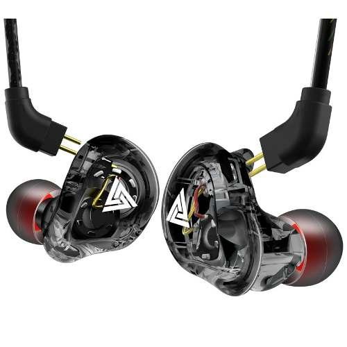 Fone de Ouvido Profissional 4DD Original QKZ VK1 In-Ear HiFi HQ Alta Qualidade Com Cabo Destacável