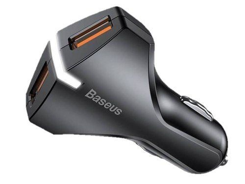 Carregador Veicular Turbo Original Baseus Rocket Dual USB 18W Quick Charge 3.0