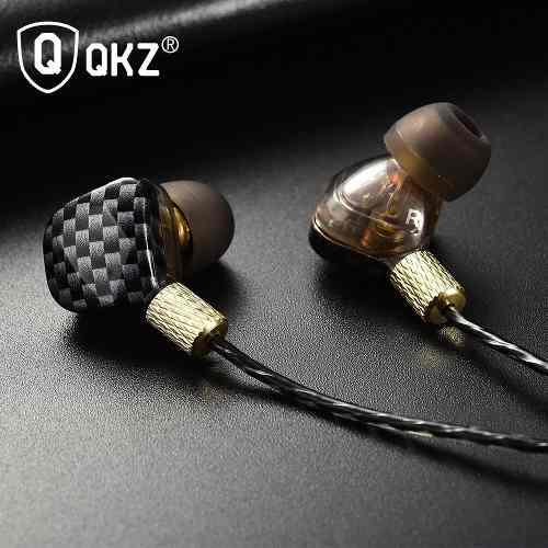 Fone de Ouvido Profissional Original QKZ KD6 6 Dynamic Drivers In-Ear Hi-Fi Alta Qualidade + Case