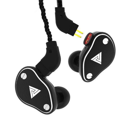 Fone de Ouvido Profissional Original QKZ VK6 In-Ear HiFi HQ Alta Qualidade Com Cabo Destacável